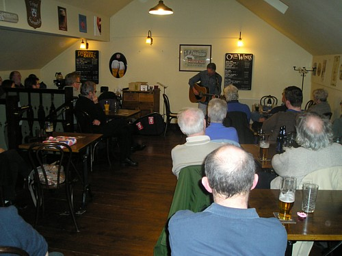 Ray Hearne - and an appreciative audience
